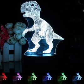 3D LED Remote Control Dinosaur Night Light 7 Color Change Desk Table Lamp Gift