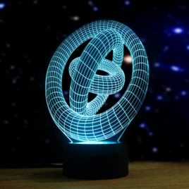 Artistic 3D Night Light 7 Colors Changing LED Touch Switch Table Lamp Xmas Gift Decor