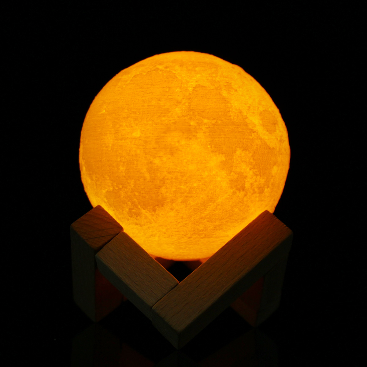 8cm Touch Sensor 3D Moon Lamp USB Color Changing LED Luna Night Light Kids Gift