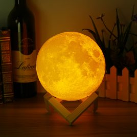 12cm 3D Magical Two Tone Moon Lamp USB Charging Luna LED Night Light Touch Sensor Gift