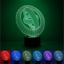 Colorful Tricyclic 3D Touch Control USB LED Desk Table Light Night Lamp