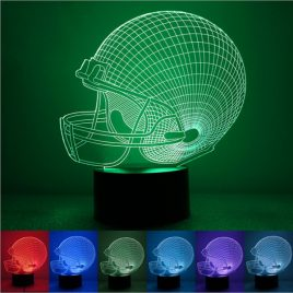 Colorful Rugby Hat 3D Touch Control USB LED Desk Table Light Night Lamp