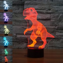 Loskii DL-3D6 Dinosaur USB Battery 3D LED Lights Colorful Touch Control Night Light Home Decor Gift