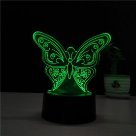 3D LED Butterfly Shape NightLight USB Animal Table Desk Lamp Kids Gifts Colorful Creative Baby Sleep Light Fixture Bedside Decor