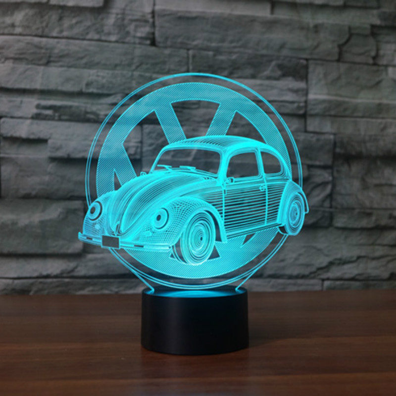 e9820d303 VW Beetle Car Modeling 3D LED Table Lamp USB Touch Button Vehicle Night  Light Amazing Gifts