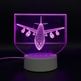 Aircraft USB Battery 3D LED Lights Colorful Touch Control Night Light Home Decor Gift