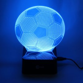 Colorful 3D Visual Football Touch LED Night Lamp Novelty USB Soccer Table Light Home Decoration