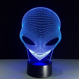 Alien 3D Illusion LED Touch Night Light USB 7 Color Changing Desk Lamp Home Decoration
