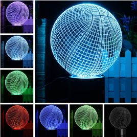 3D LED Basketball Night Light 7 Color Change Desk Table Lamp Birthday Xmas Gift