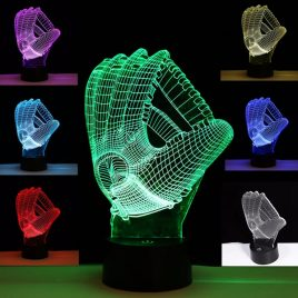 3D Illusion LED Gloves Night Light Touch Color Changing Table Lamp Gift