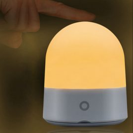 Portable 3W USB Rechargeable Touch Sensor LED Night Light Dimmable RGBWW Bedside Camping Lamp